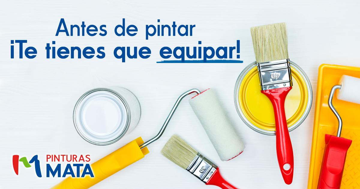 Antes de pintar ¡Te tienes que equipar!